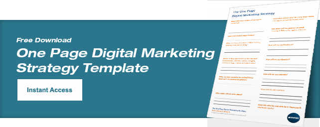 1 Page Marketing Plan Template Beautiful Digital Marketing Strategy Understand and Calculate