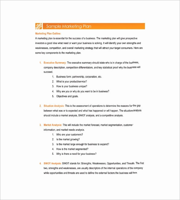 1 Page Marketing Plan Template Lovely 19 Simple Marketing Plan Templates Doc Pdf