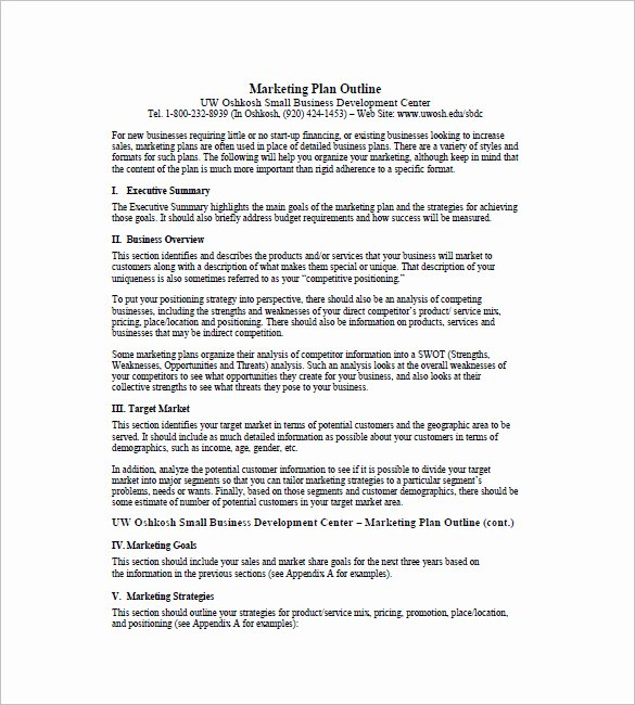 1 Page Marketing Plan Template New E Page Marketing Plan Template – 16 Free Sample
