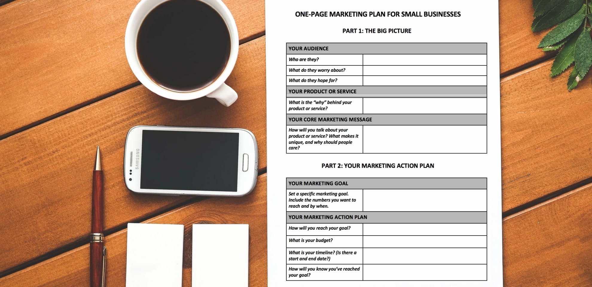 1 Page Marketing Plan Template Unique [free Download] A E Page Marketing Plan Template You Ll