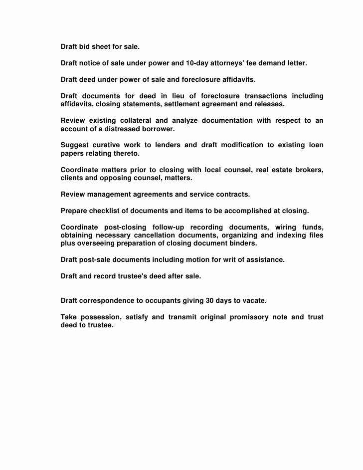 10 Day Payoff Letter Sample Elegant Responsibilities the Professional Paralegal