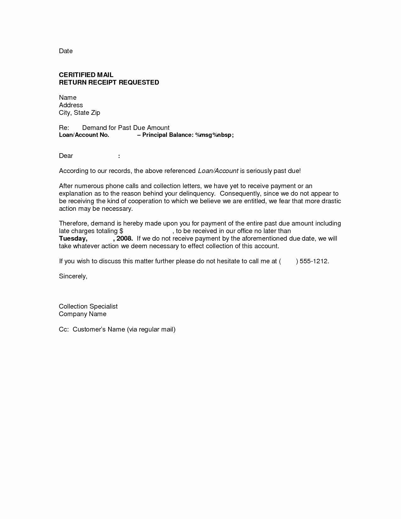 10 Day Payoff Letter Sample Inspirational Demand Letter Template Breach Contract Examples