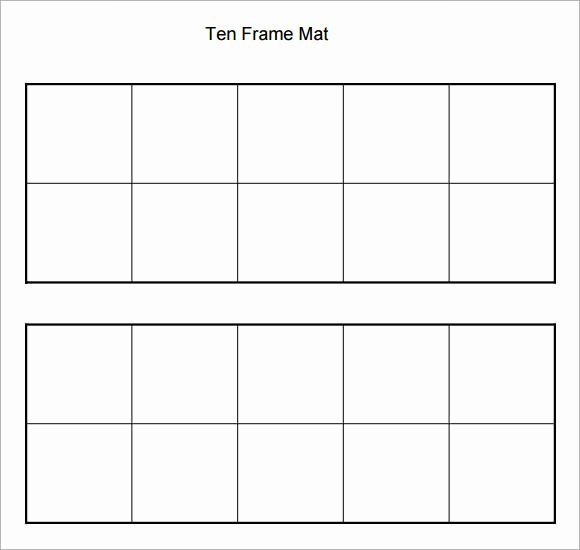 10 Frame Template Beautiful 6 Ten Frame Samples