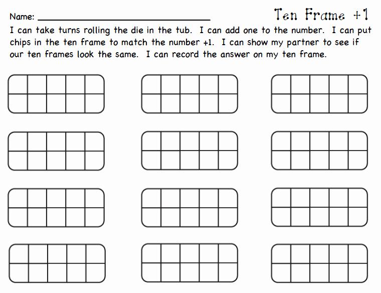 10 Frame Template Lovely Mrs Samuelson S Swamp Frogs Ten Frame Game