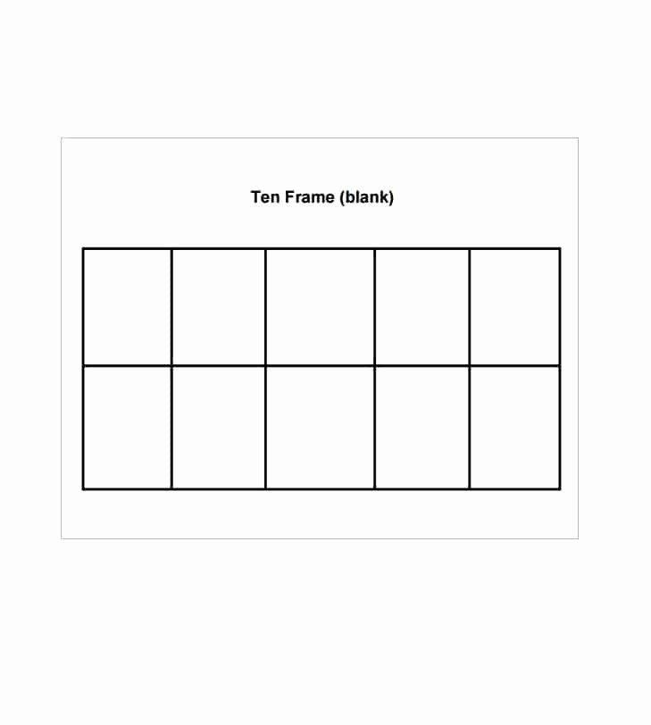 10 Frame Template Printable Awesome 36 Printable Ten Frame Templates Free Template Lab