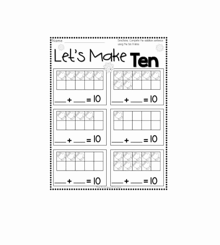 10 Frame Template Printable Inspirational 36 Printable Ten Frame Templates Free Template Lab