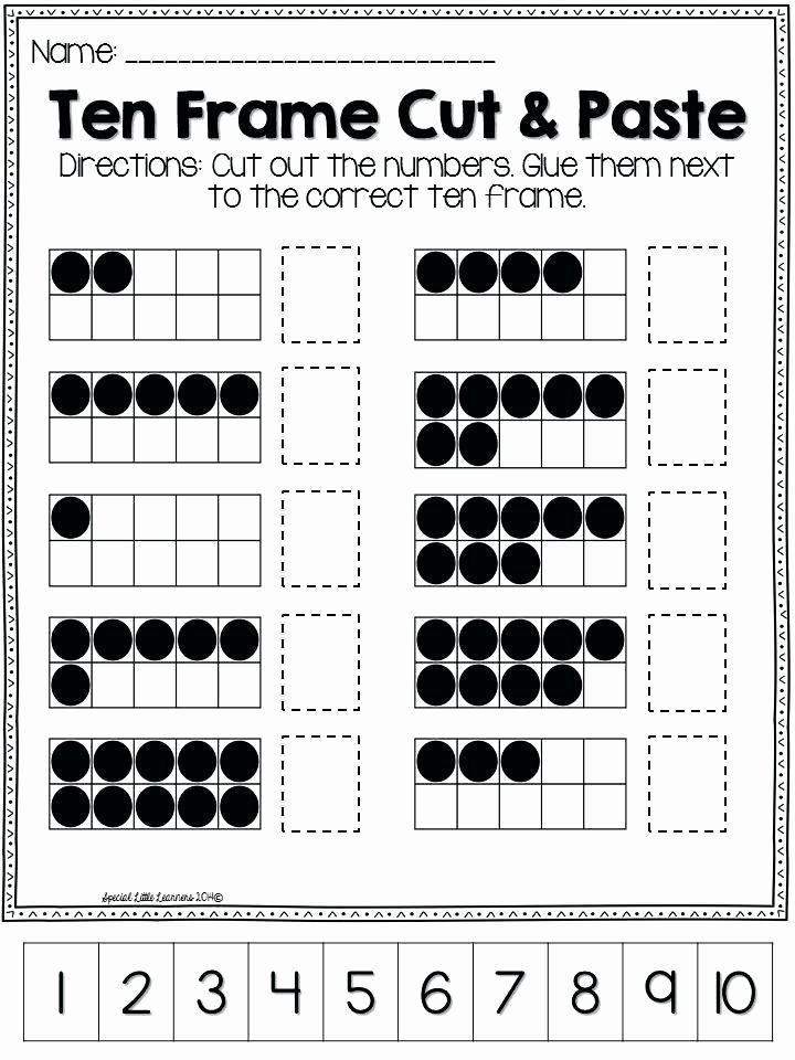 10 Frame Template Printable New Free Printable 10 Frames with Dots