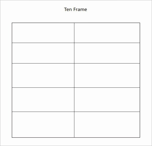 10 Frame Template Unique 6 Ten Frame Samples