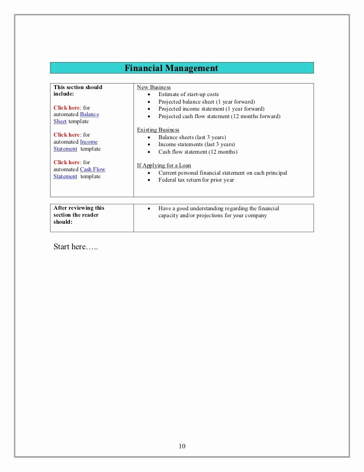 10 Year Plan Template Elegant Small Business Plan Template