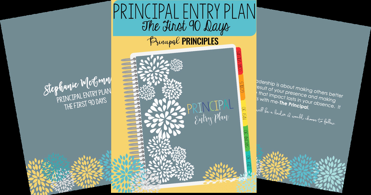100 Day Action Plan Template Inspirational Principal 90 Day Plan Digital Resource Principal Principles