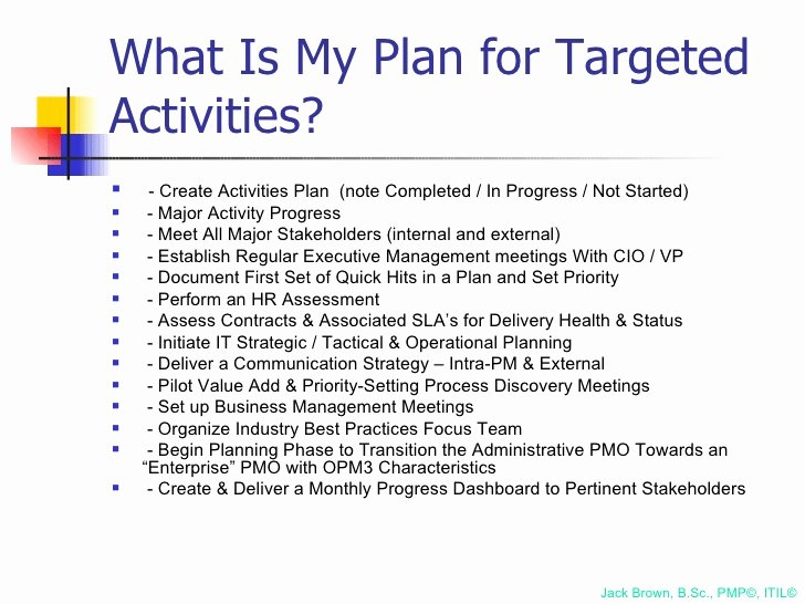 100 Day Plan Template Fresh 100 Day Plan for Directing A Pmo