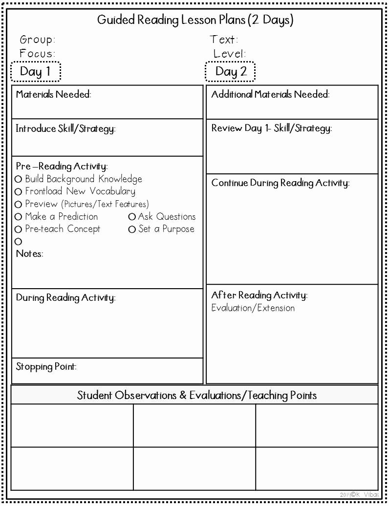 2nd Grade Lesson Plan Template Best Of Guided Reading Lesson Plan Template 3rd Grade – Guided