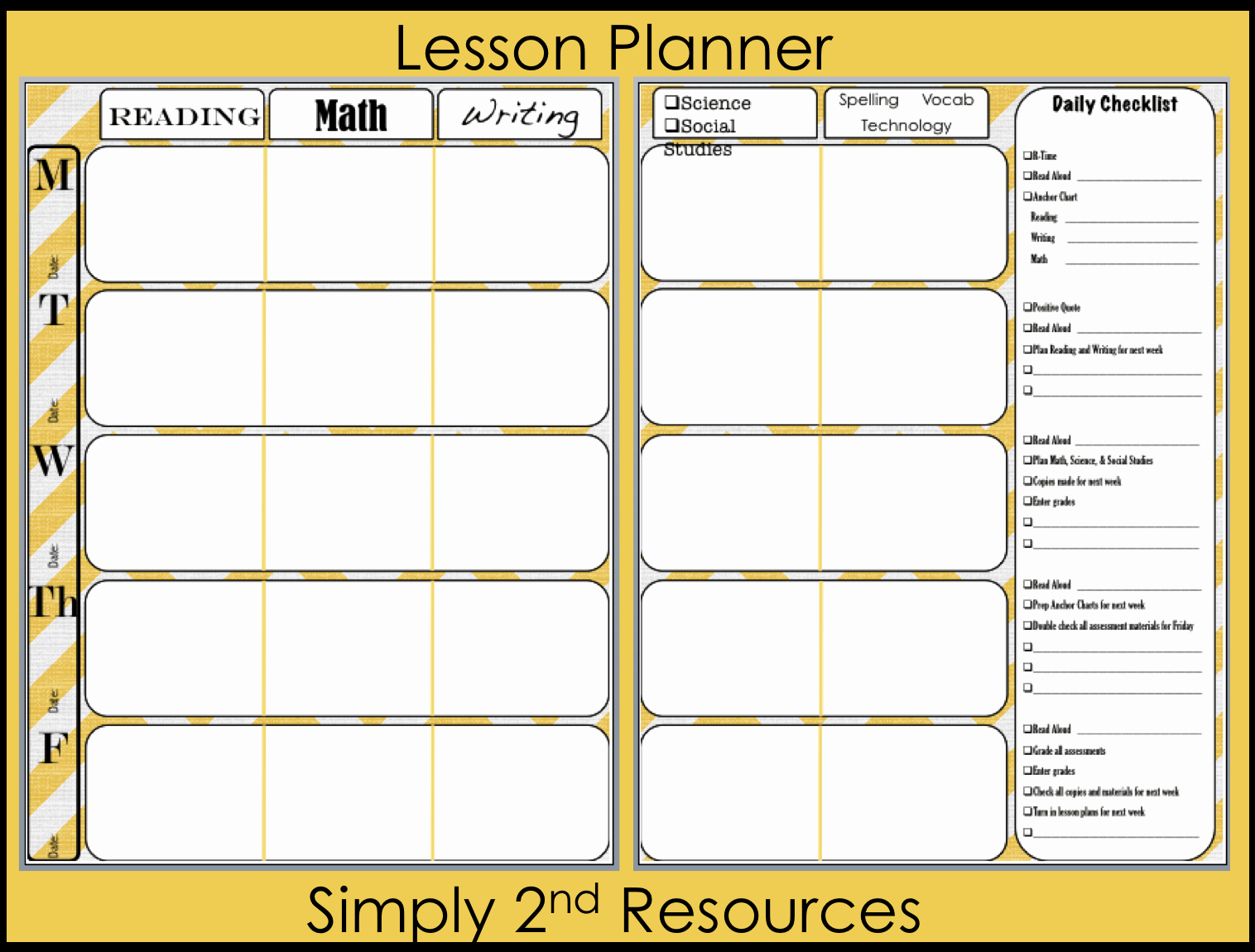 2nd Grade Lesson Plan Template Elegant Simply 2nd Resources Lesson Plan Template so Excited to