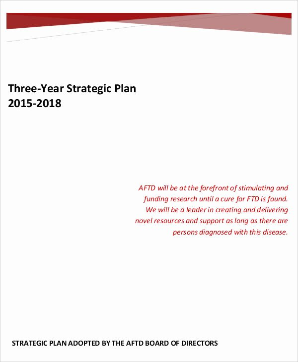 3 Year Plan Template Awesome Free Strategic Plan 45 Free Word Pdf Ppt format