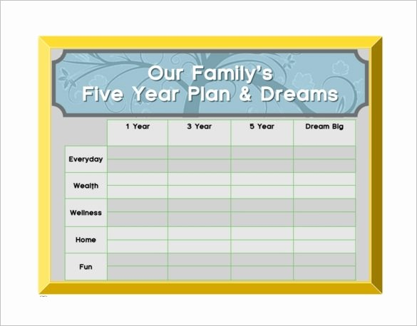 3 Year Plan Template Elegant 5 Year Plan Template Beepmunk