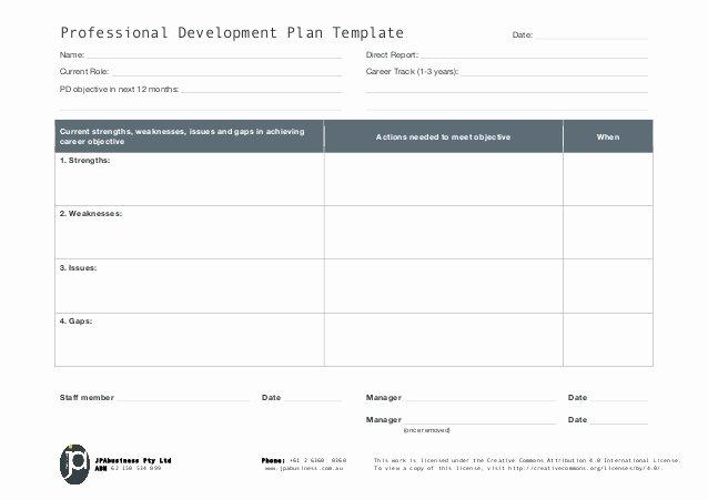 3 Year Plan Template Fresh Jpabusiness Professional Development Plan Template