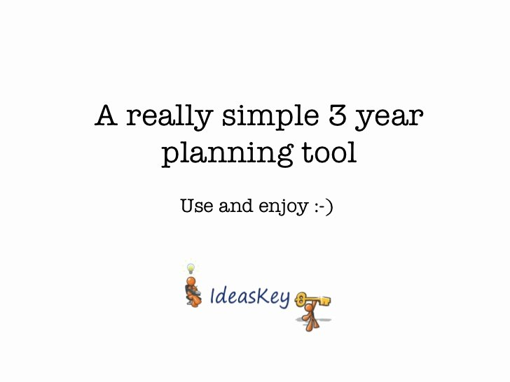 3 Year Plan Template Lovely Really Simple 3 Year Plan Template
