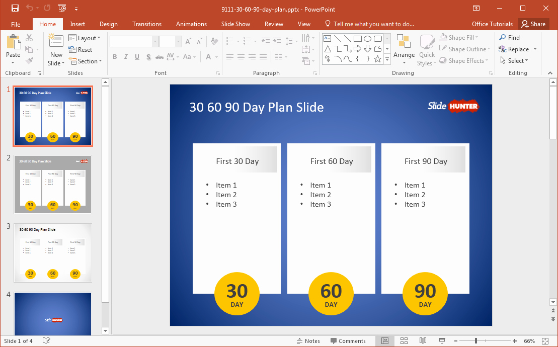 30 60 90 Plan Template Best Of 5 Best 90 Day Plan Templates for Powerpoint