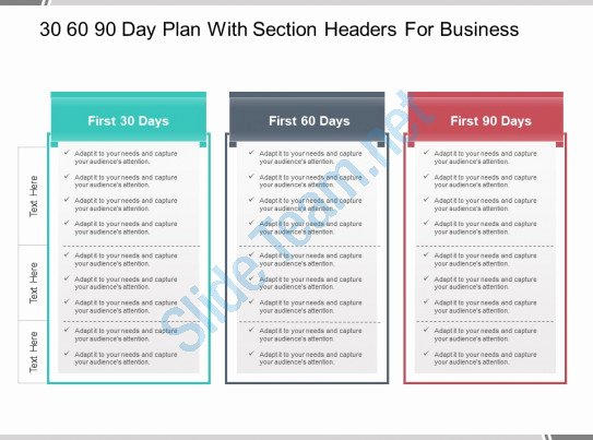 30 Day Plan Template Awesome 30 60 90 Day Plan with Section Headers for Business