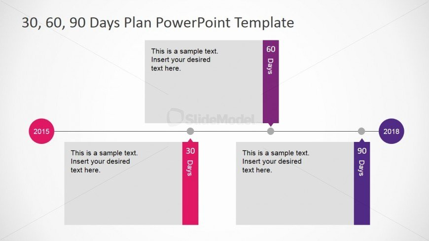 30 Day Plan Template Awesome Flat Design Powerpoint Timeline Diagram for 30 60 90 Days