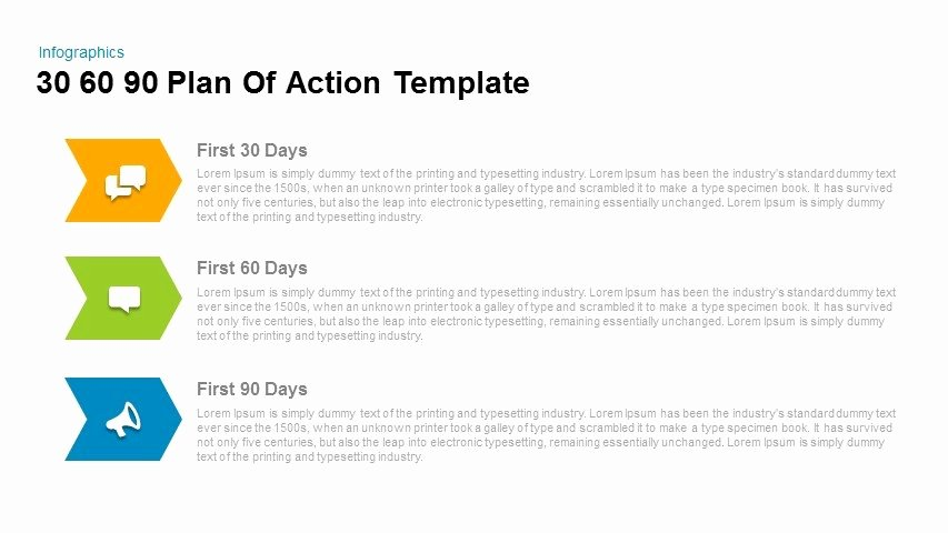 30 Day Plan Template Fresh 30 60 90 Plan Action Powerpoint and Keynote Template
