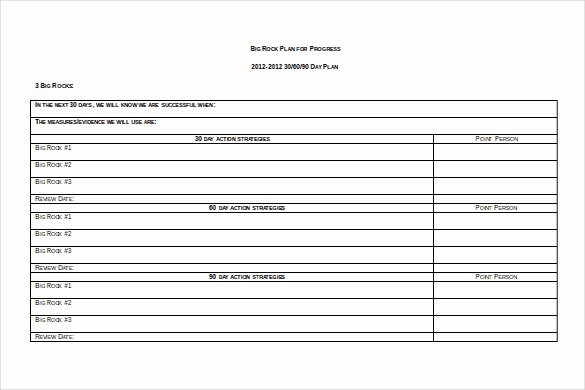 30 Day Plan Template Unique Templates 30 60 90 Day Employee Review Template