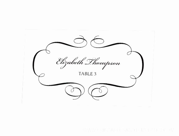 4 Per Page Template Word Elegant 5 Template for Place Cards 4 Per Sheet