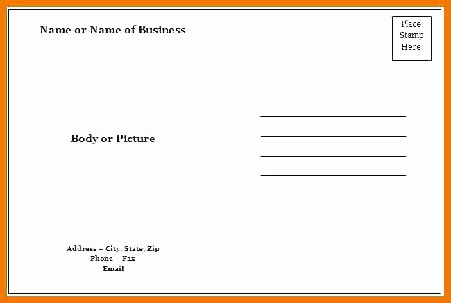 4 Per Page Template Word Inspirational Blank Postcard Template Word Ms Word Postcard Template 4