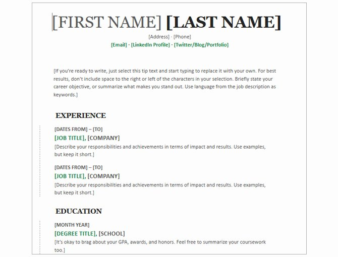 4 Section Word Template Luxury 20 Free Resume Templates for Word that Ll Help You Land A Job
