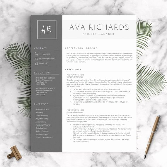 4 Section Word Template New Best 25 Creative Resume Design Ideas On Pinterest