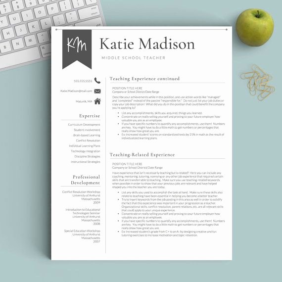 4 Section Word Template Unique 17 Best Ideas About Teacher Resume Template On Pinterest
