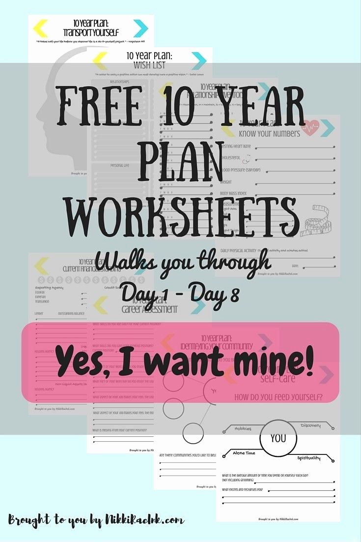 4 Year Plan Template Fresh 30 Day Challenge Creating A 10 Year Plan Days 1 15