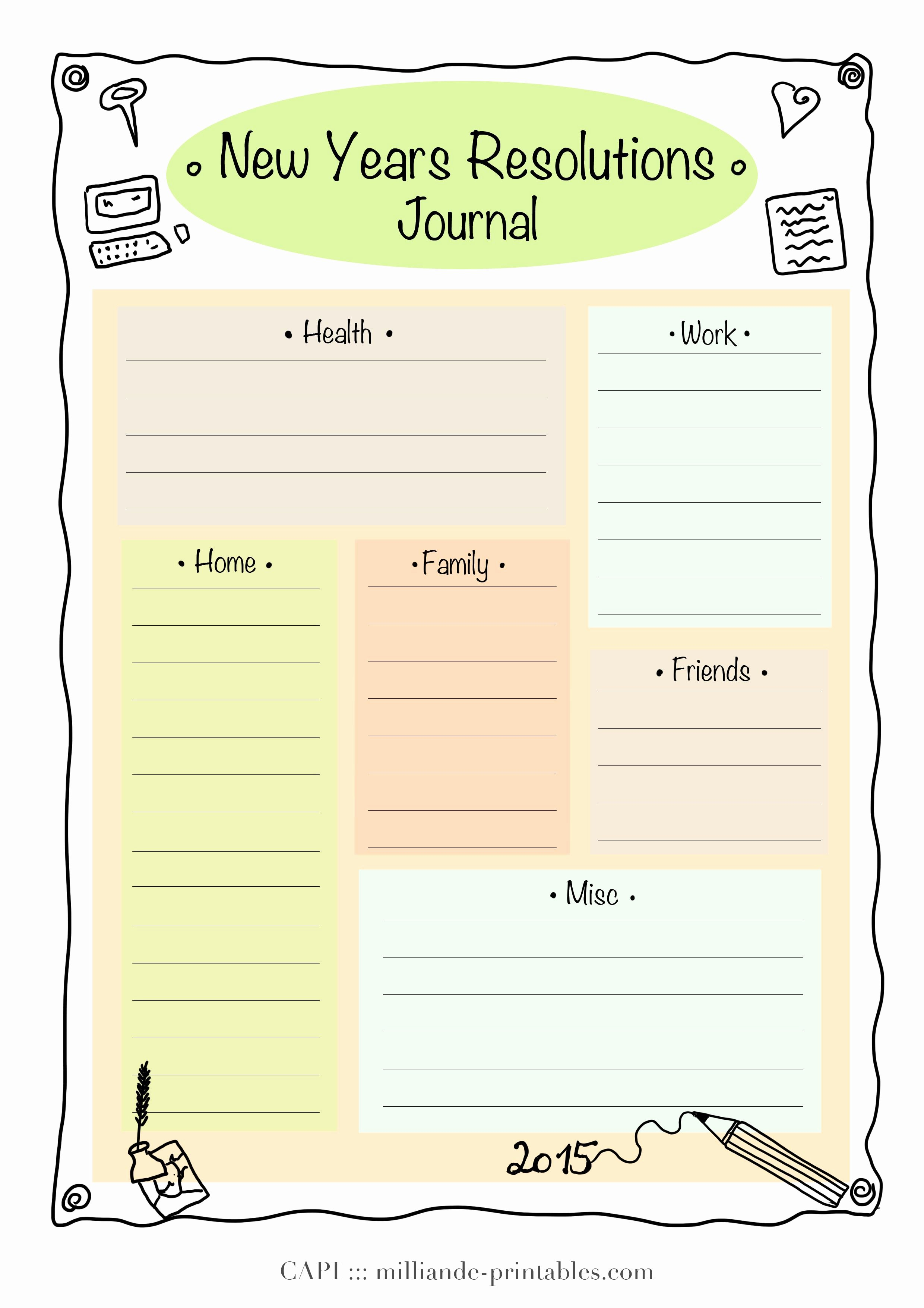 4 Year Plan Template Unique Resolution New Year Printable 2015 Day Planner Template