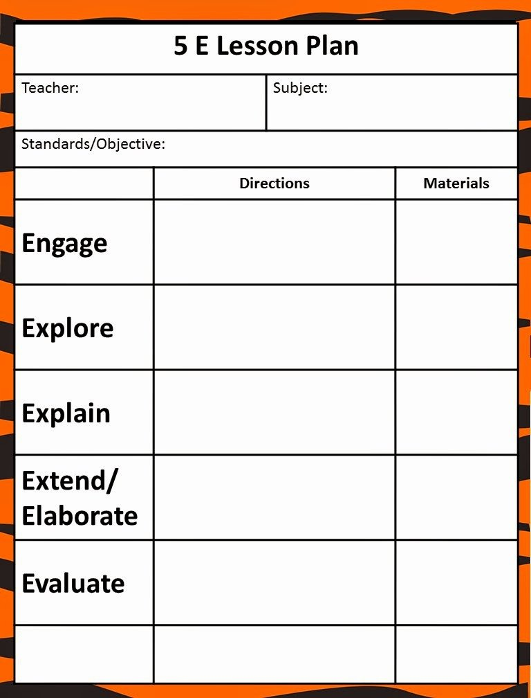 5 E Lesson Plan Template Best Of Queen Of the Jungle the 5e Model Our New Lesson Plans