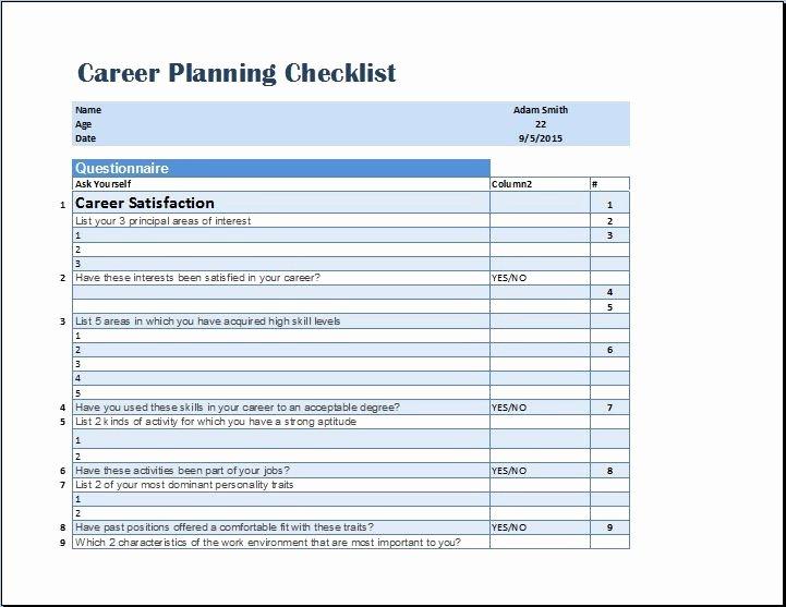 5 Year Career Plan Template Luxury Career Plan Template