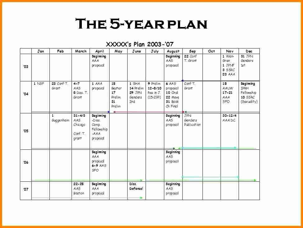 5 Year Career Plan Template New 5 Year Strategic Business Plan Template – Business form