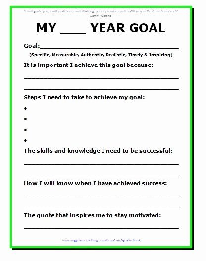 5 Year Life Plan Template Unique 11 Effective Goal Setting Templates for You