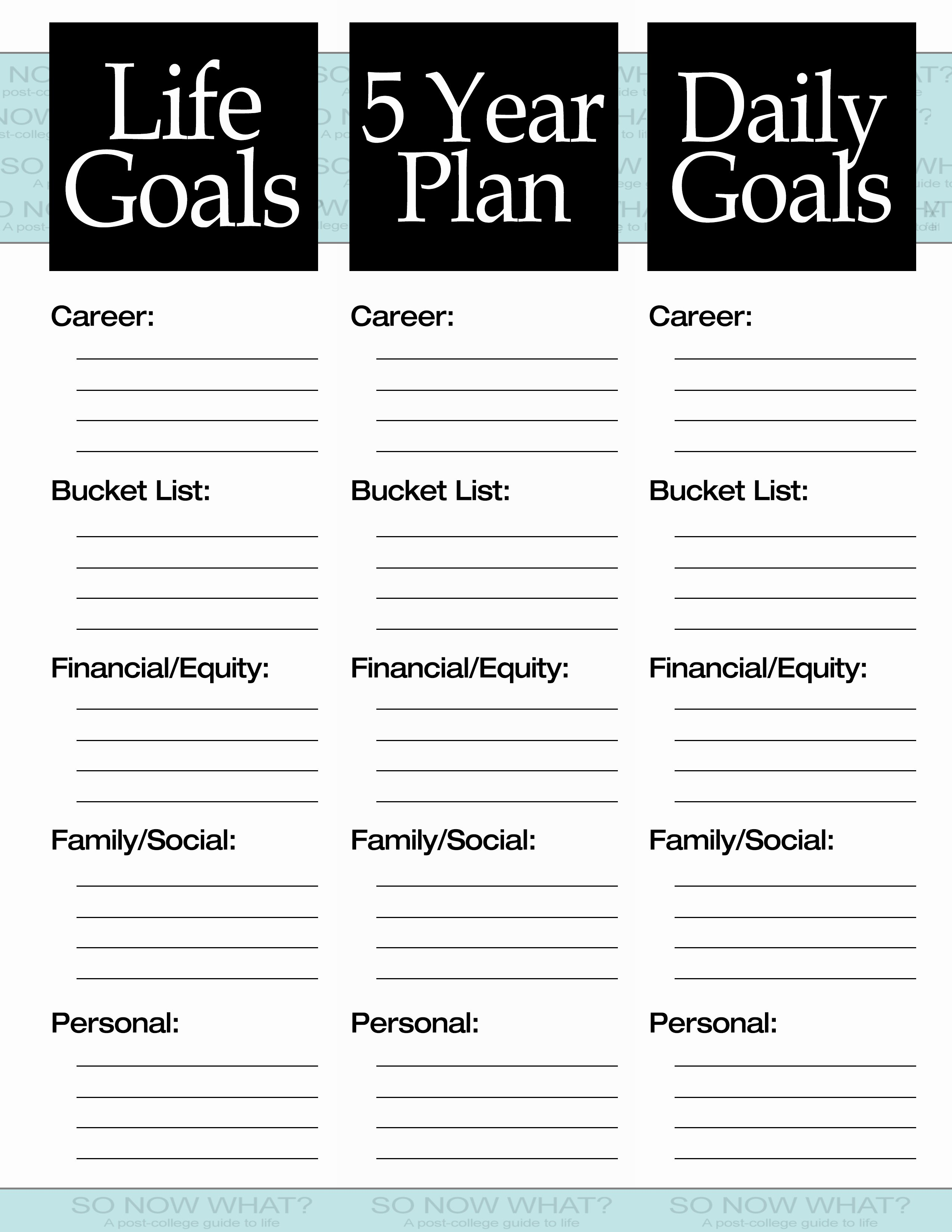 5 Year Plan Template Best Of the 3 Steps to A 5 Year Plan