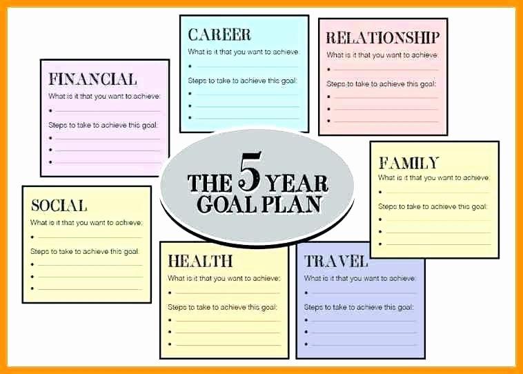 5 Year Plan Template Fresh 5 Year Goals Template – Dyppedukopfo