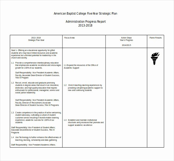 5 Year Strategic Plan Template New 12 Word Spreadsheet Templates Free Download