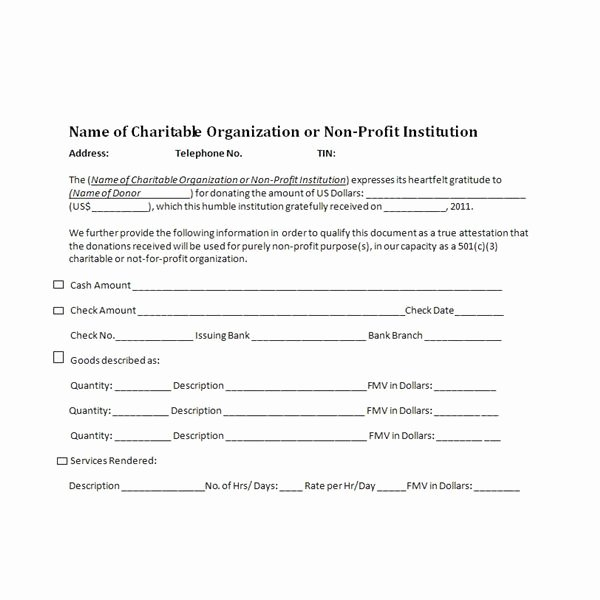 501c3 Donation Receipt Template Awesome Charitable Donation Receipts Requirements as Supporting