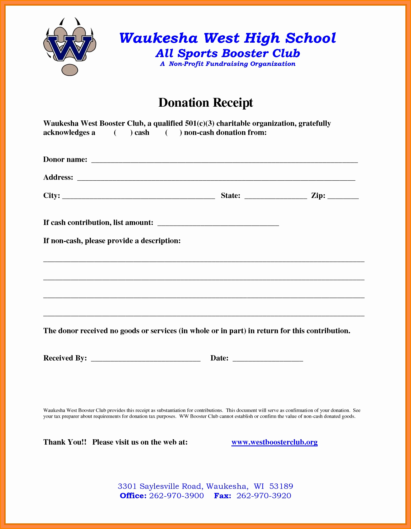 501c3 Donation Receipt Template New 5 501c3 Donation Receipt