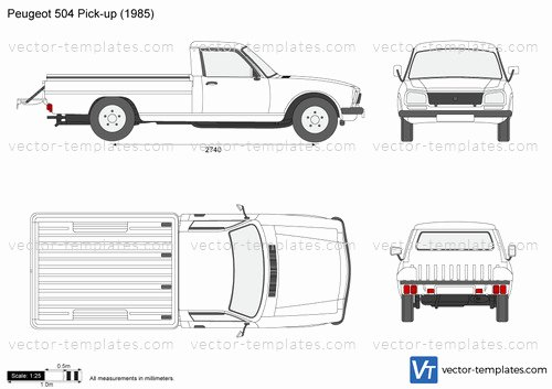 504 Plan Template Pdf Unique Templates Cars Peugeot Peugeot 504 Pick Up