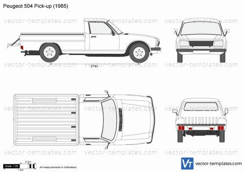 504 Plan Template Pdf Unique Templates Cars Peugeot Peugeot 504 Pick Up