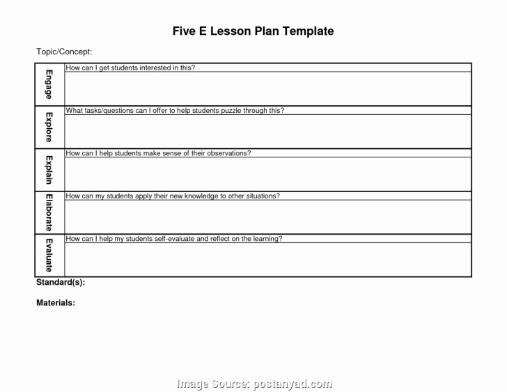 5e Lesson Plan Template Best Of 5e Lesson Plan Template for Science – Surface area and