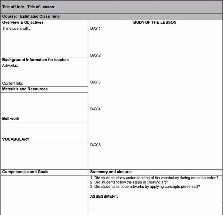 5e Lesson Plan Template Inspirational 5e Lesson Plan Template for Math Special Education 8