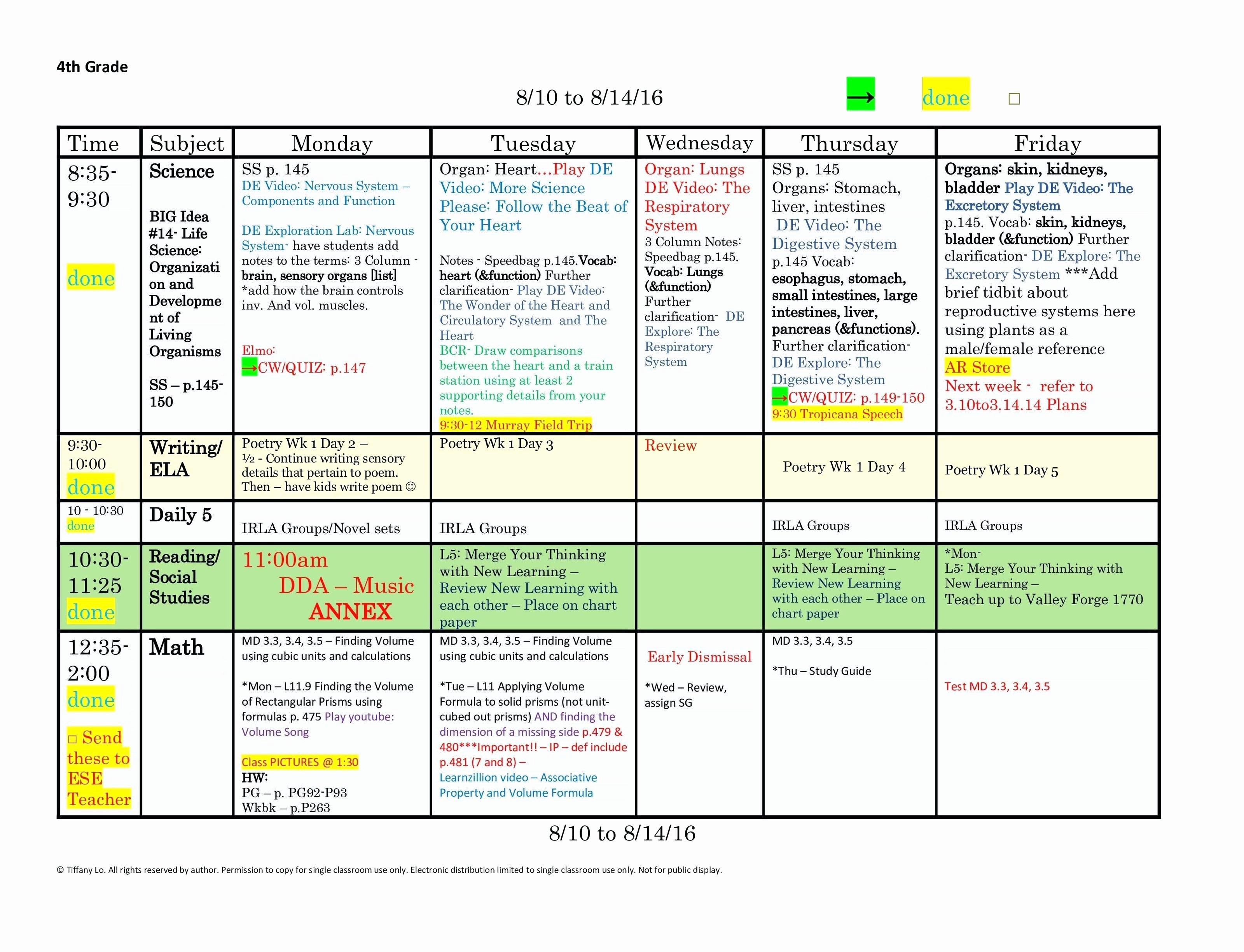 5th Grade Lesson Plan Template Beautiful 5th Grade Reading Lesson Plans Mon Core