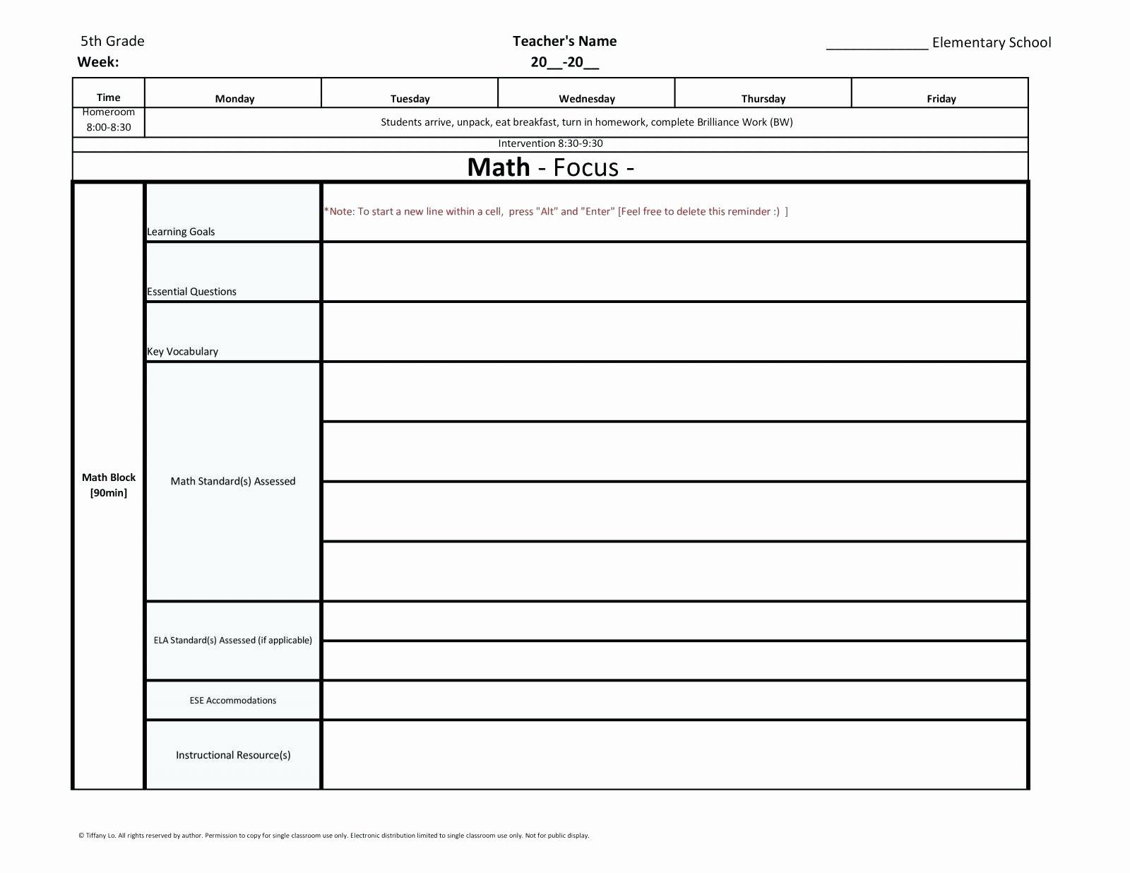 5th Grade Lesson Plan Template Fresh Fifth Grade Science Lesson Plans Fifth Grade Weekly Lesson