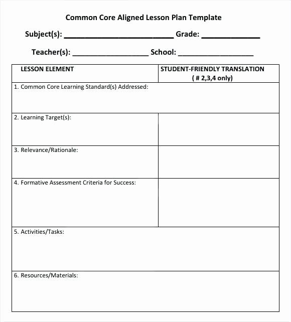 5th Grade Lesson Plan Template Inspirational Fifth Grade Lesson Plan Template – 5th Grade Lesson Plans
