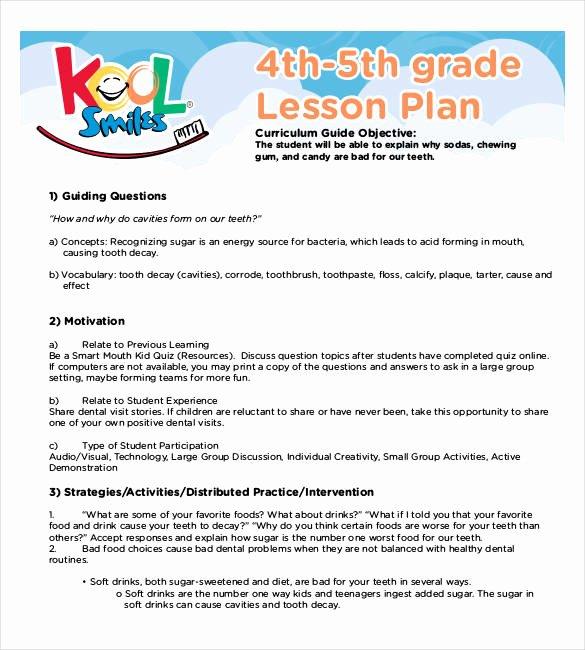 5th Grade Lesson Plan Template Unique 59 Lesson Plan Templates Pdf Doc Excel